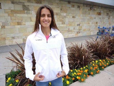 Lourdes Carlé, de 16 años, debutó al conformar el dobles junto a Perez Rojas